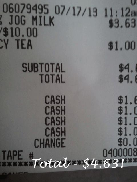 $60 a Week Grocery Challenge – Milk amd Tea Trip