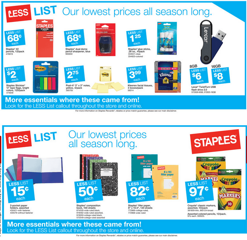 Staples Back To School Deals 07/20/2014