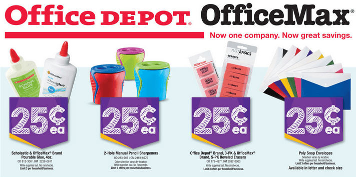 Office Max/Office Depot Back To School Deals for 07/20/2014