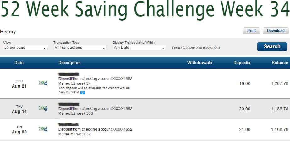 52 saving week 34