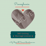 Frugal Wedding Planning – Self-Uniting Marriage License