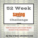 52 Week Saving Challenge Week 36 + Earn Extra Money For Christmas