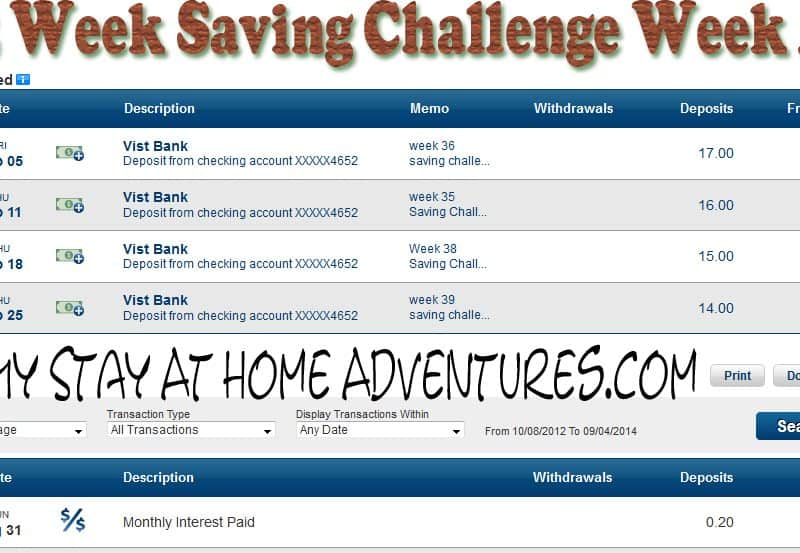 52 Week Saving Challenge Week 36 + Earn Extra Money For Christmas