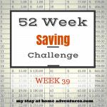 52 Week Saving Challenge Week 39