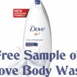 Free Sample of Dove Body Wash