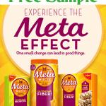 Free Sample of Metamucil Cinnamon Oatmeal Raisin Meta Health Bar