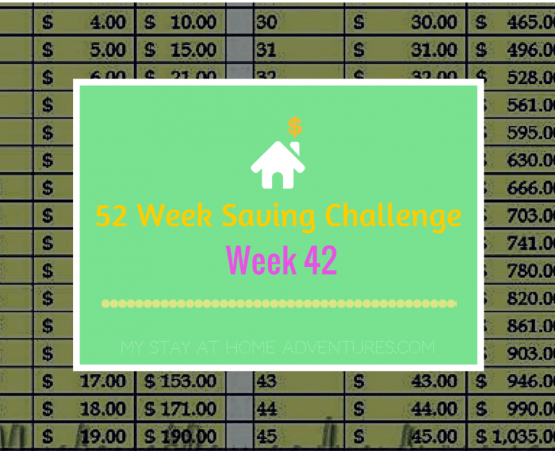 52 Week Saving Challenge Week 42