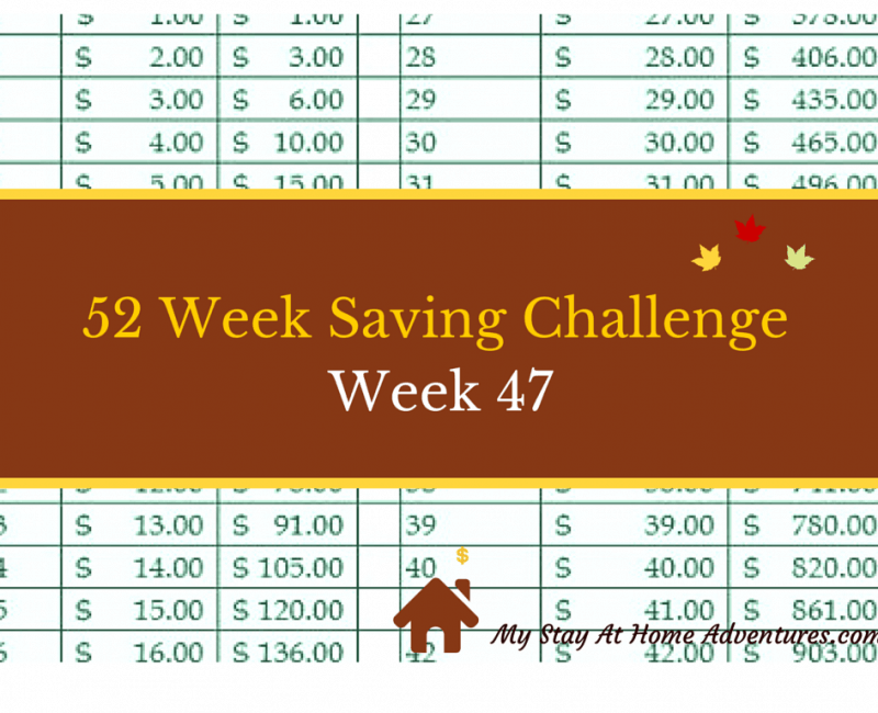 52 Week Saving Challenge Week 47