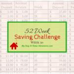 Week 52 Week Saving Challenge Week 50