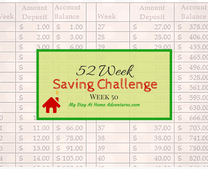 Week 52 Week Saving Challenge Week 50