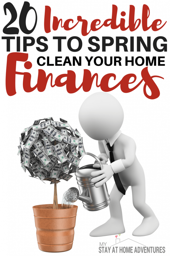 Want to fix your home finances this spring? Check these 20 spring clean your home finances and start getting your finances on the right path!