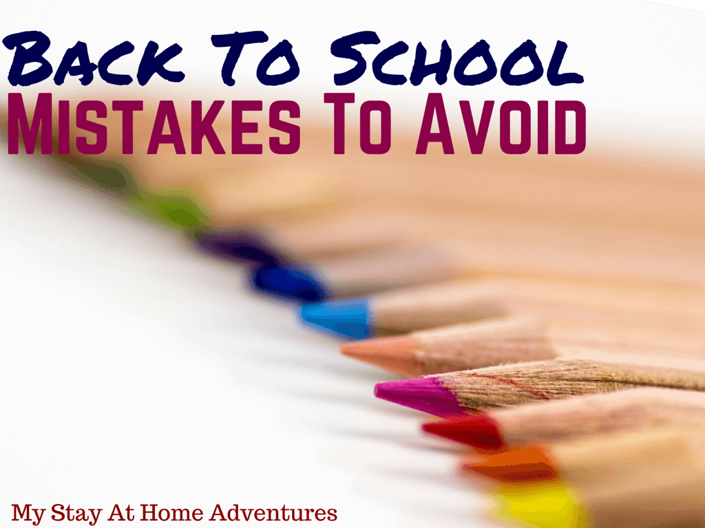 Back To School Shopping Mistakes To Avoid