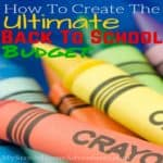 How To Create The Ultimate Back To School Budget