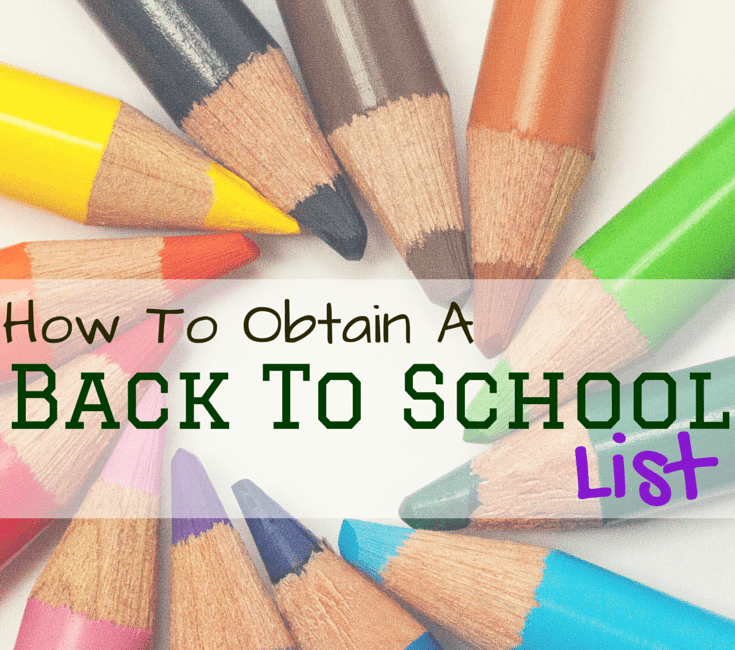 How To Obtain a Back To School List