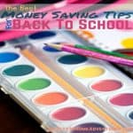 The Best Money Saving Tips For Back To School