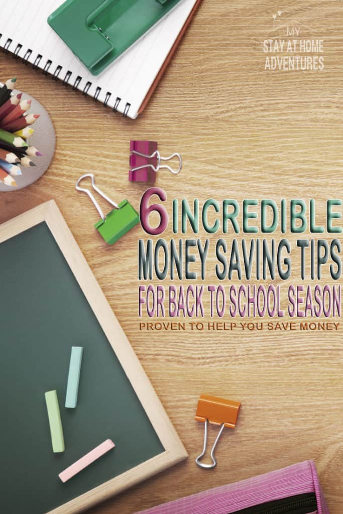 Looking for money saving tips for back school season? Check out 6 painless tips and a list of 2017 Sales Tax Free holiday to help you save even more money!