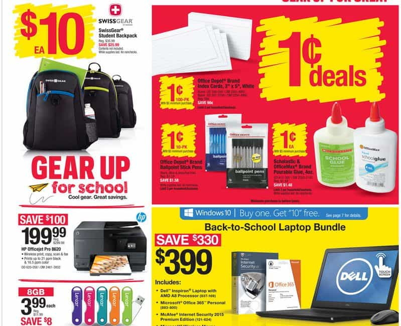 Office Depot/Office Max Back To School Deals for 07/19 to 07/25