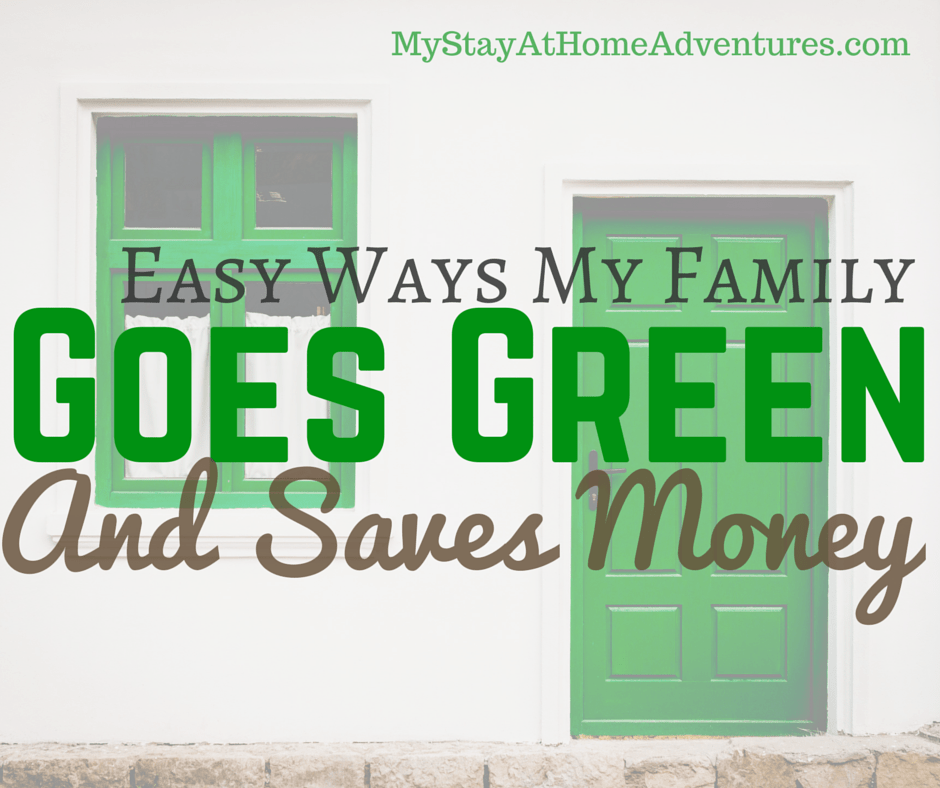 Here we have our 5 Easy Ways My Family Goes Green And Saves Money! Learn how this planet-save-cheapos do it and you can too!