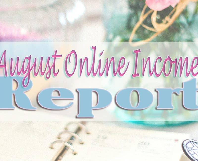 August Online Income & September Goals