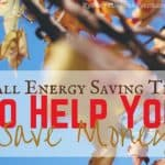 Fall Energy Saving Tips To Help You Save Money