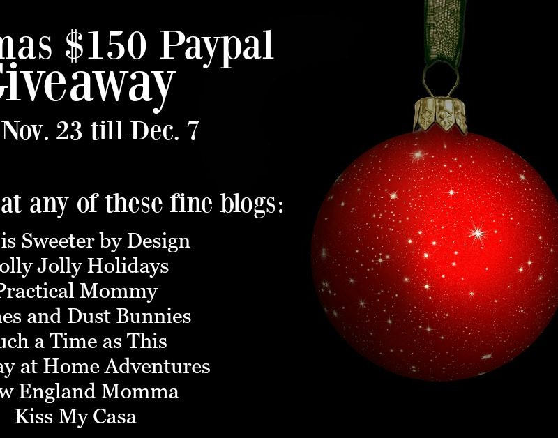 Christmas $150 PayPal Giveaway