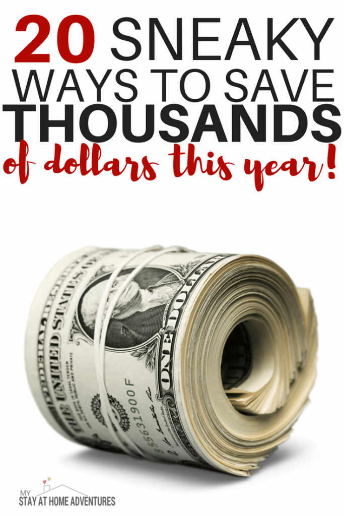 Tired of searching for effective ways to save money this year? Check out these 20 sneaky ways you never thought of to help you save BIG!