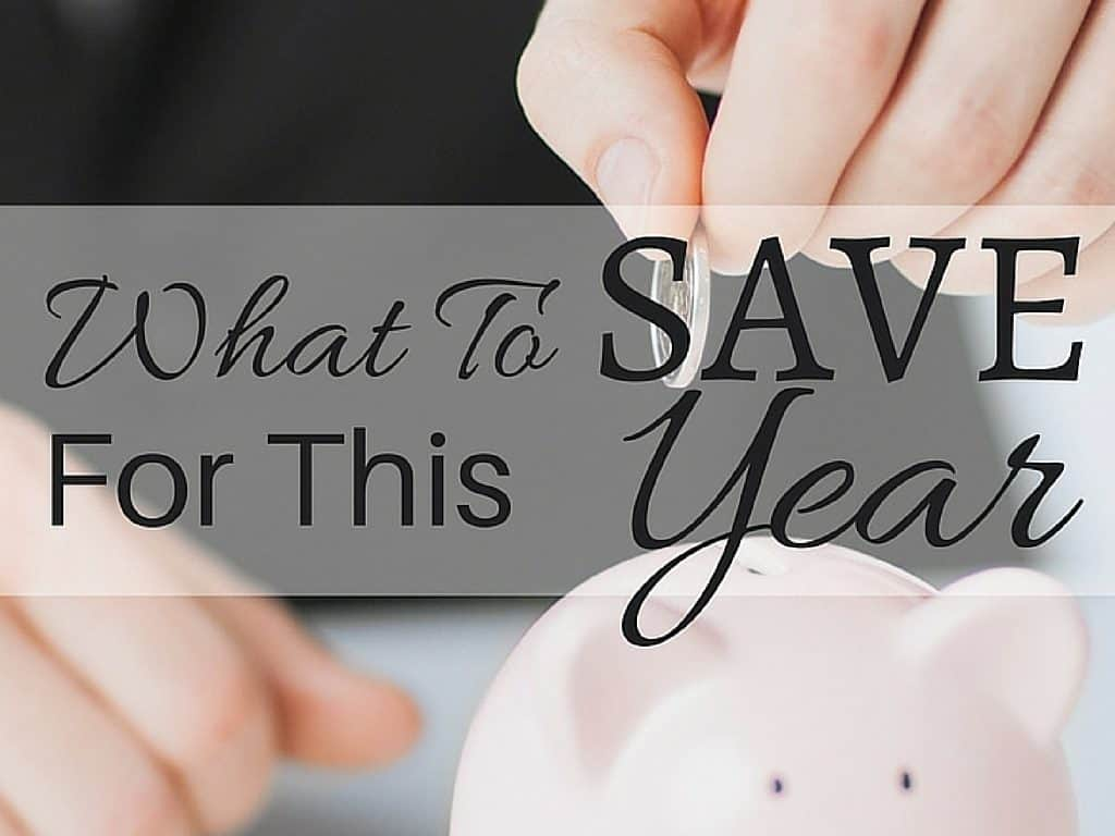 We talk about saving money but do we know or understand what we are saving for? Learn what to save for this year to help you get finances ready.