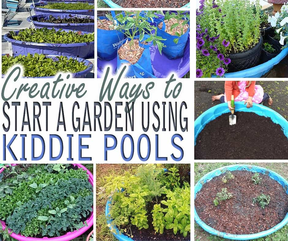 creative ways to start a garden using kiddie pools my stay at home adventures