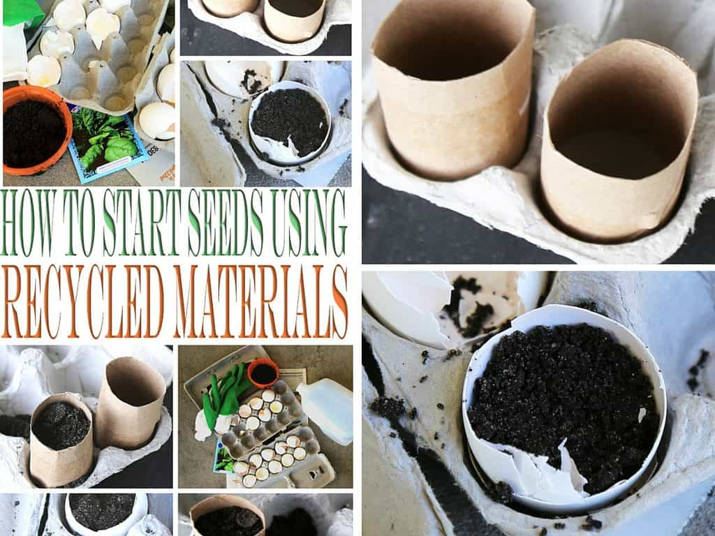 Love to start a garden? How to start seeds using recycled materials to help you this gardening season. These are kids friendly too!