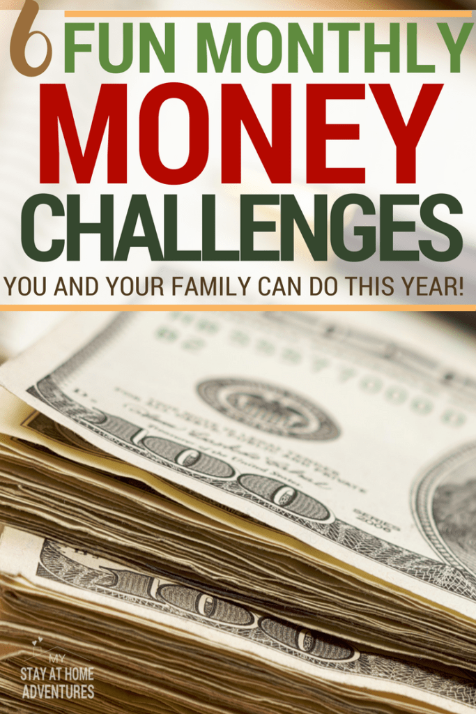 Looking for  a fun way to motivate you to save money? We have 6 incredible monthly money challenges you and your family can do this year!
