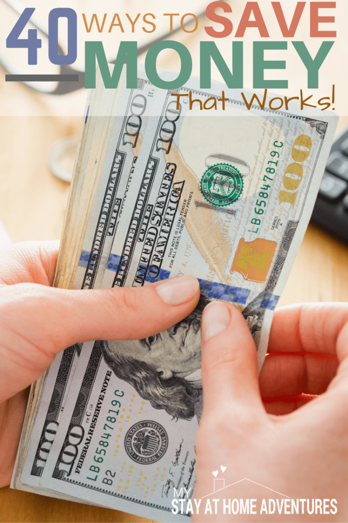 If saving money was so simple and easy to do people will be doing it all the time! To help you here are 40 ways to save money that works!