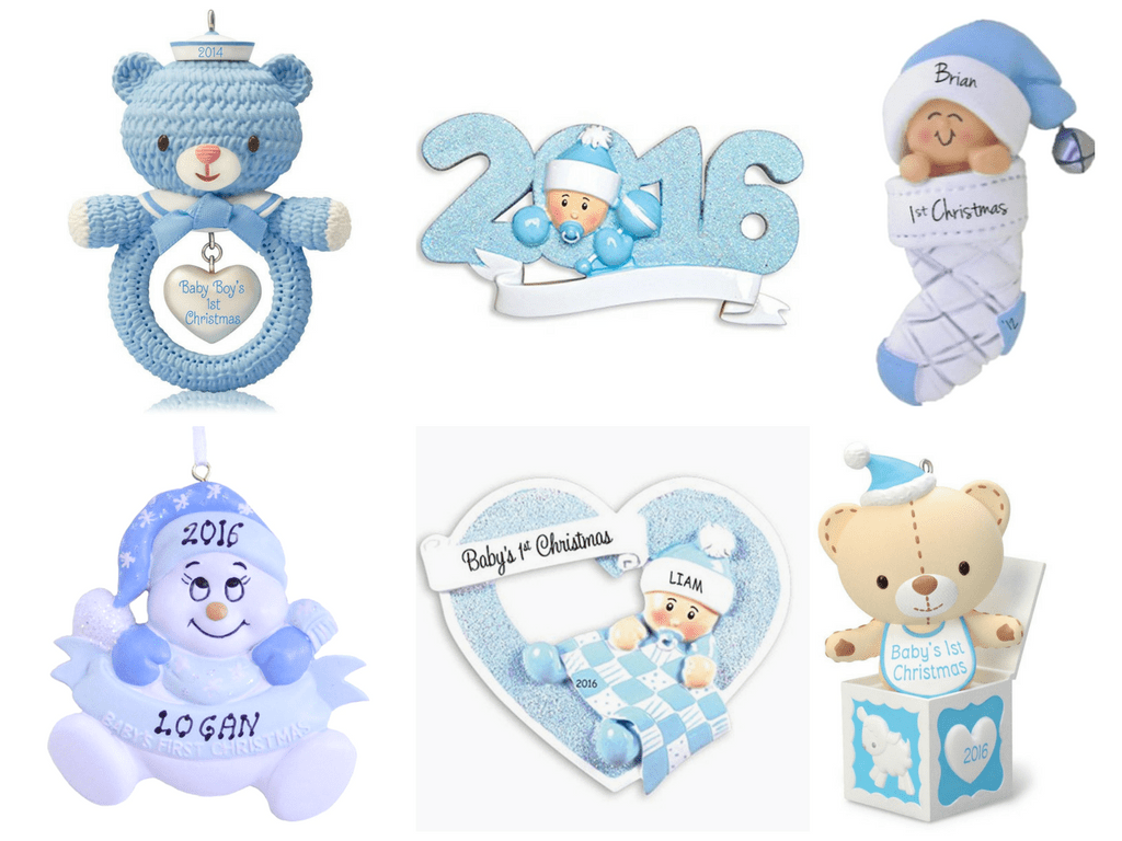 Baby boy christmas ornaments - Looking For A Baby Boy First Christmas Ornament Check Out This Baby Boy First Christmas
