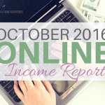 October 2016 Online Income Report