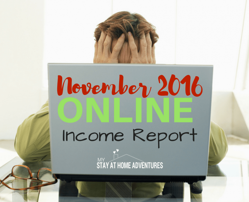 November 2016 Online Income Report