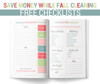 Fall cleaning checklists