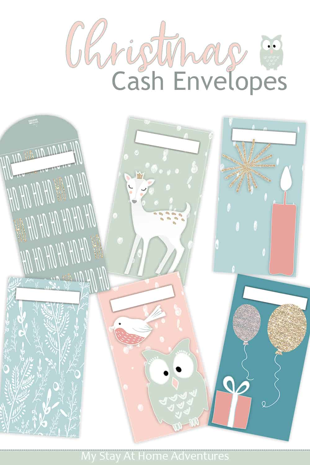 Check out this collection of Christmas Cash Envelopes for cash budgeters. From traditional designs to winter wonderland, find them here. via @mystayathome