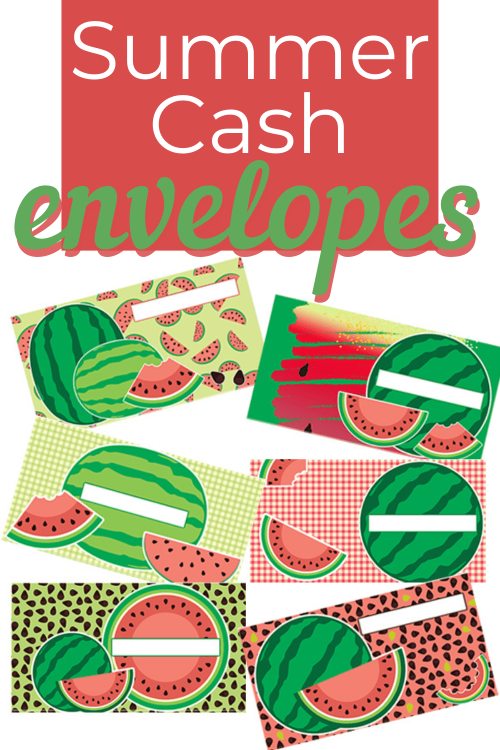 Check out these summer-themed cash envelope templates available today. Cash budget and stay organized this summer with these fun collections. via @mystayathome
