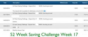 52 saving week 17