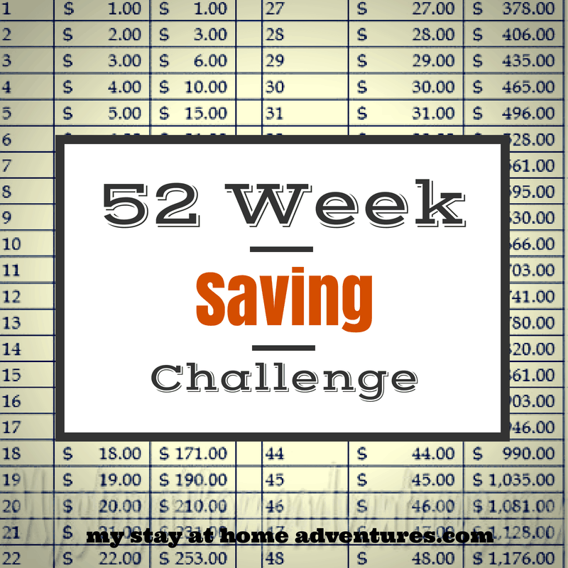 52 Week Saving Challenge Week 35