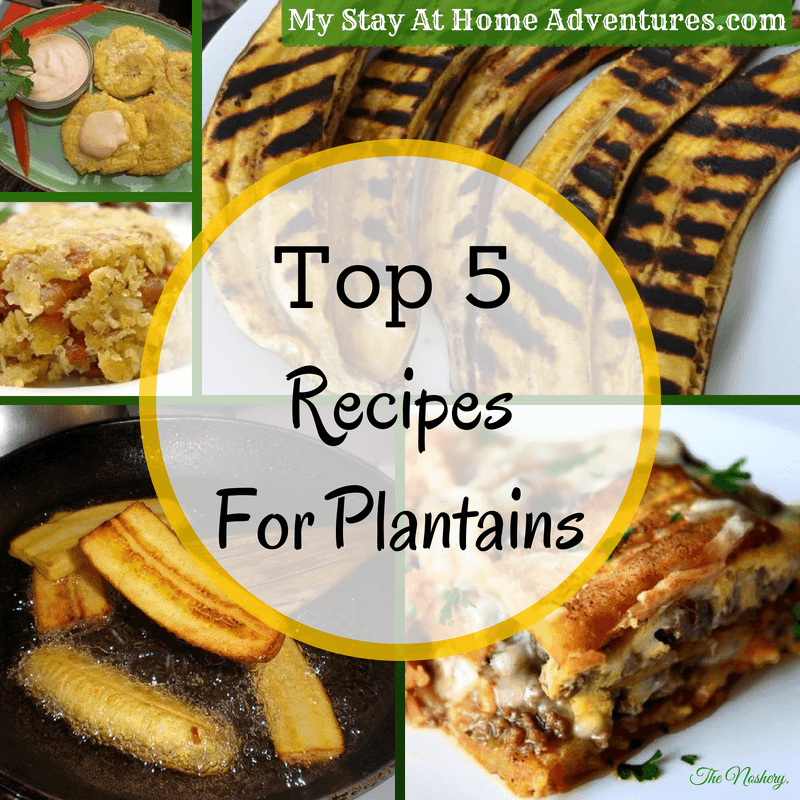 If you have not tried plantains and you have seen them at your local grocery stores, here are 5 delicious and simple recipes for plantains for you to try.