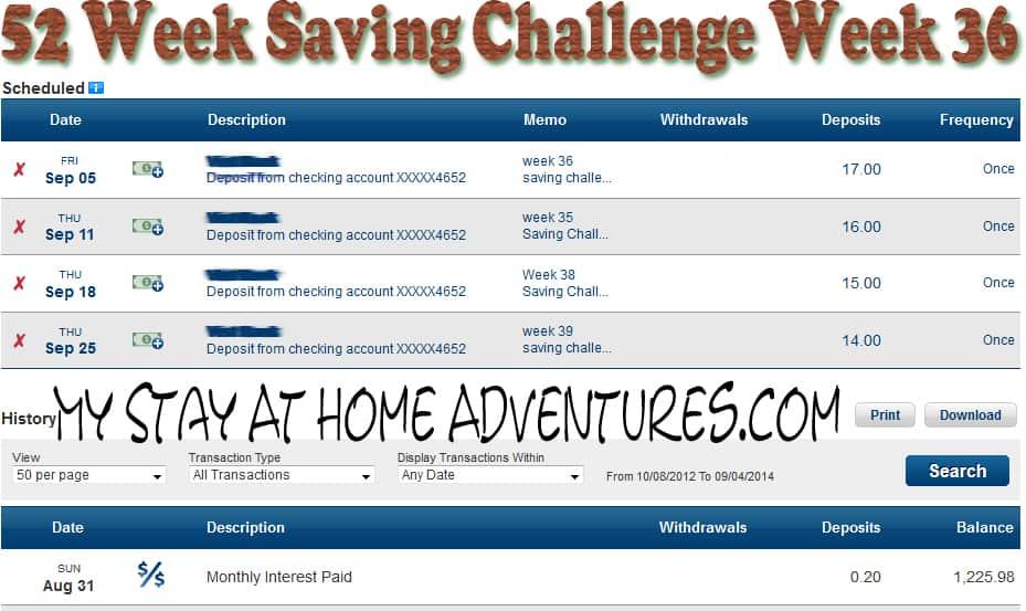 52 saving challenge 36