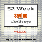52 Week Saving Challenge Week 39