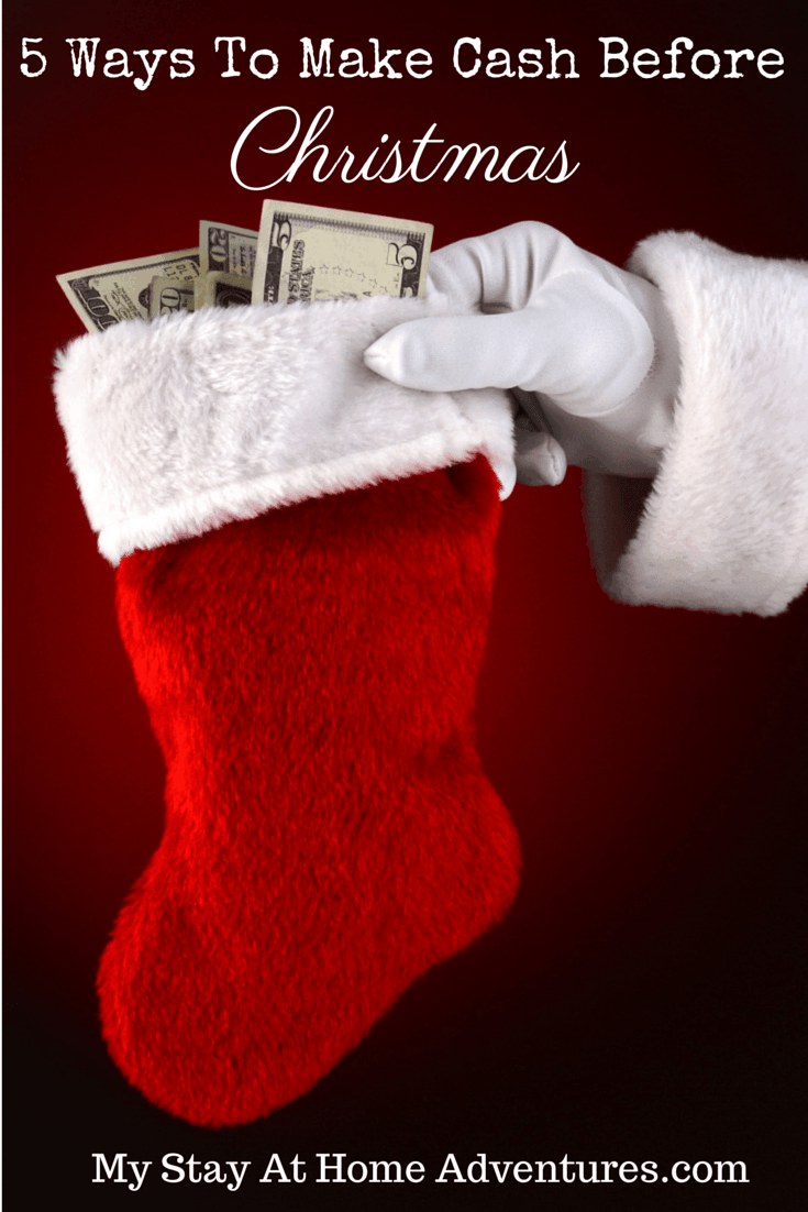 Looking for ways to make extra money for Christmas? There are five easy ways to make extra cash for Christmas if you start today! via @mystayathome