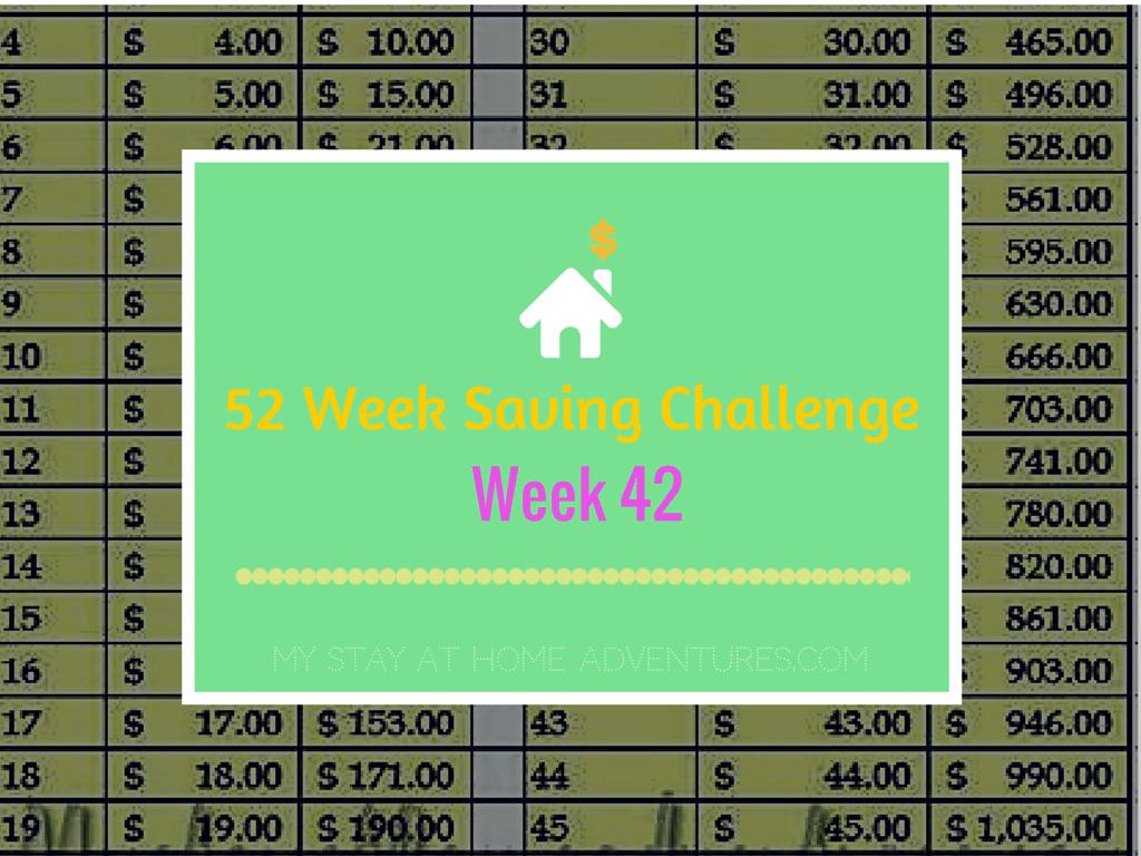 52 saving week 42