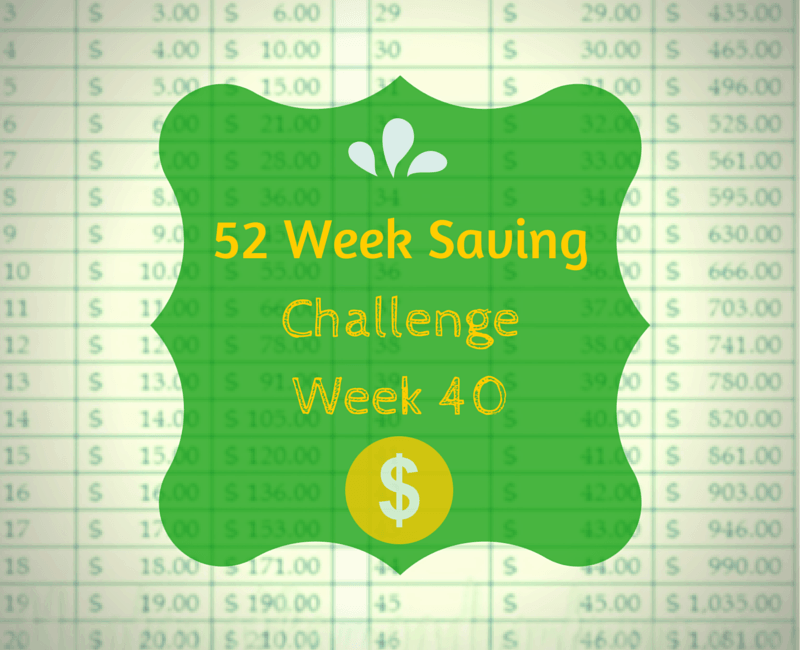 52 Week Saving Challenge Week 40