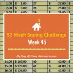 52 Week Saving Challenge Week 45