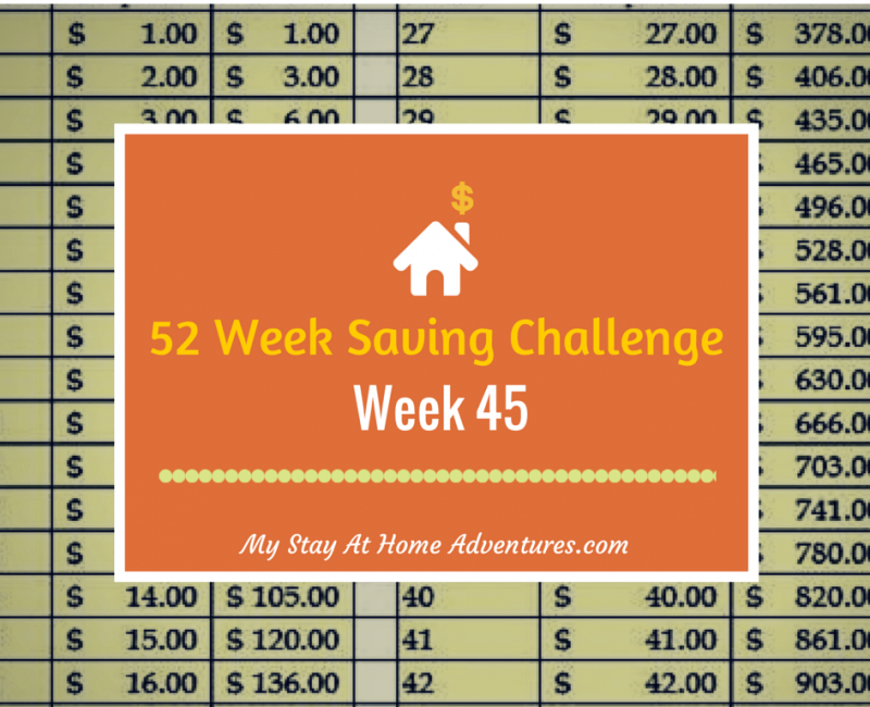 52 Week Saving Challenge Week 45