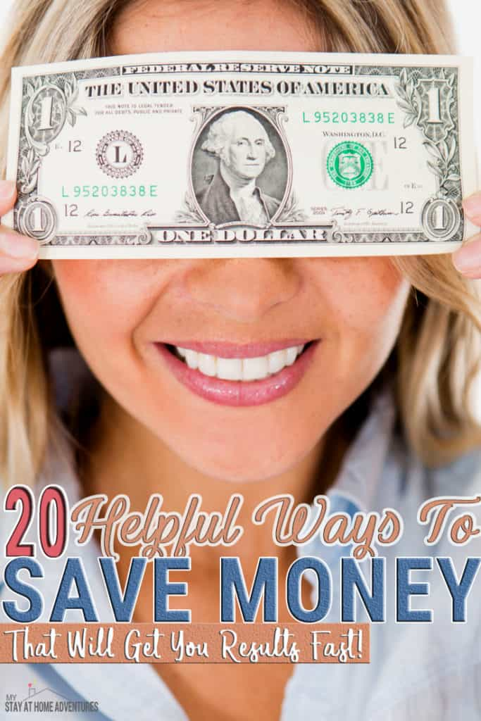 There are 20 helpful ways to save money that will get you results fast. All you have to do is start implementing them today and see your saving grow.
