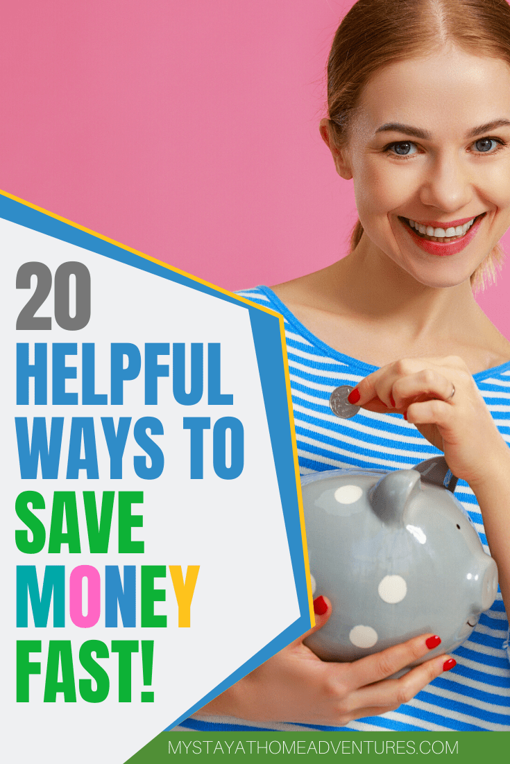Want to save money? Increase your savings? Learn 20 helpful and realistic ways to save money and see your savings grow this month! via @mystayathome