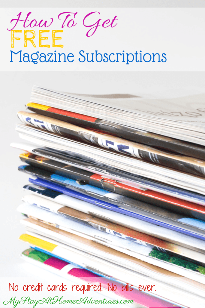 Learn to how get the latest Free Magazine Subscriptions available online! No Bills. No credit cards